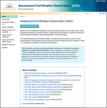 Assessment Certification and Examination (ACE) Manual
