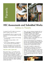 Advice to parents – HSC Assessments and Submitted Works