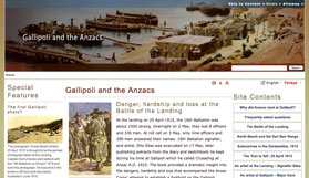 Gallipoli and the Anzacs website