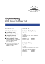 English-literacy Test Papers